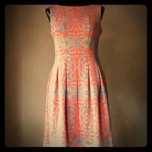 Julian Taylor Scuba Coral and Mint Dress